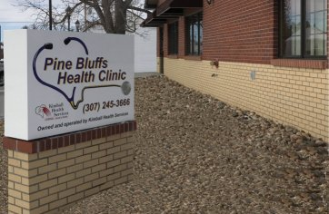 Pine Bluffs Front of Clinic Spring